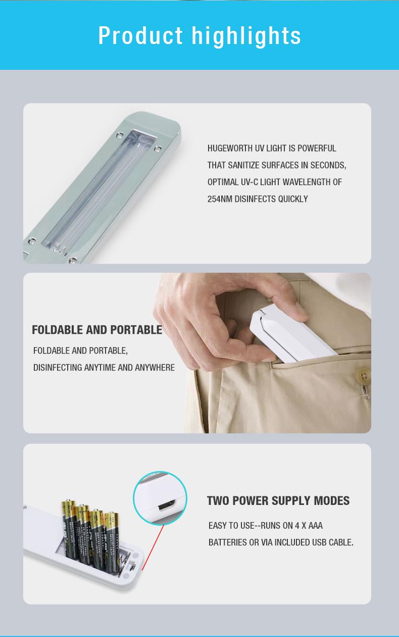Portable Ultraviolet Germicidal Lamps